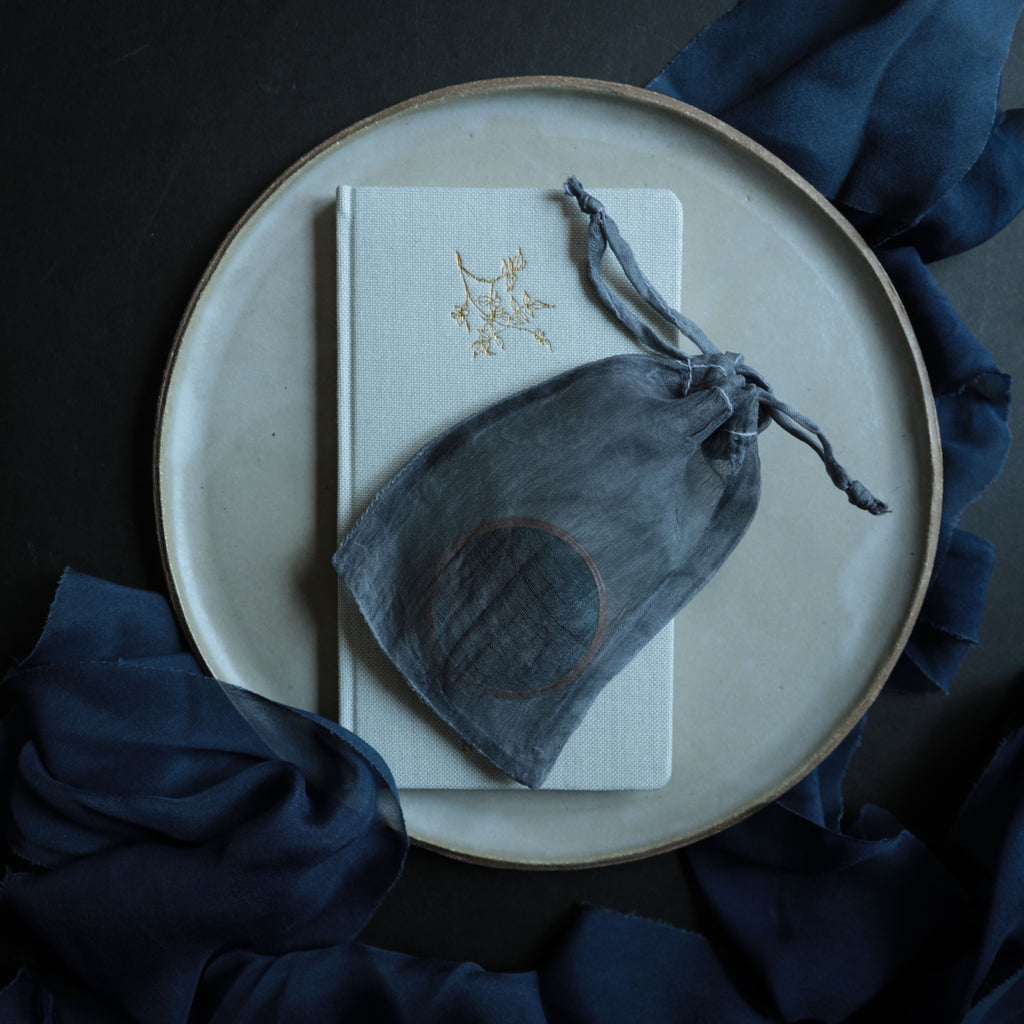 Plant Dyed 100% Silk Bags {Blue Slate}