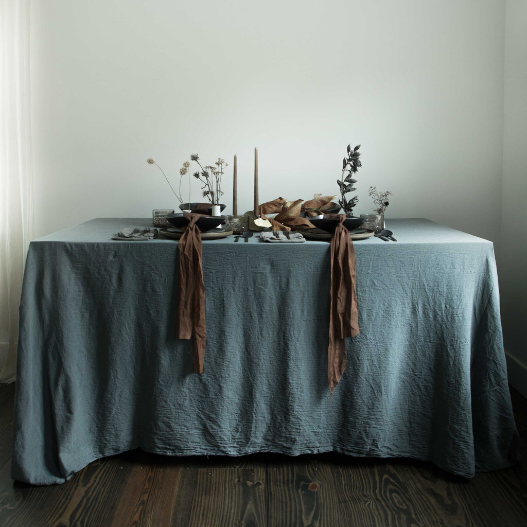 Natural Table linens, unique tabletop decor,silk & willow