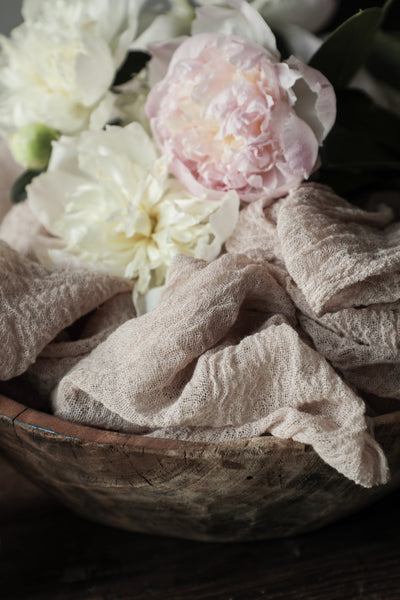 Handloom Medium Weave Table Runner {Blush}