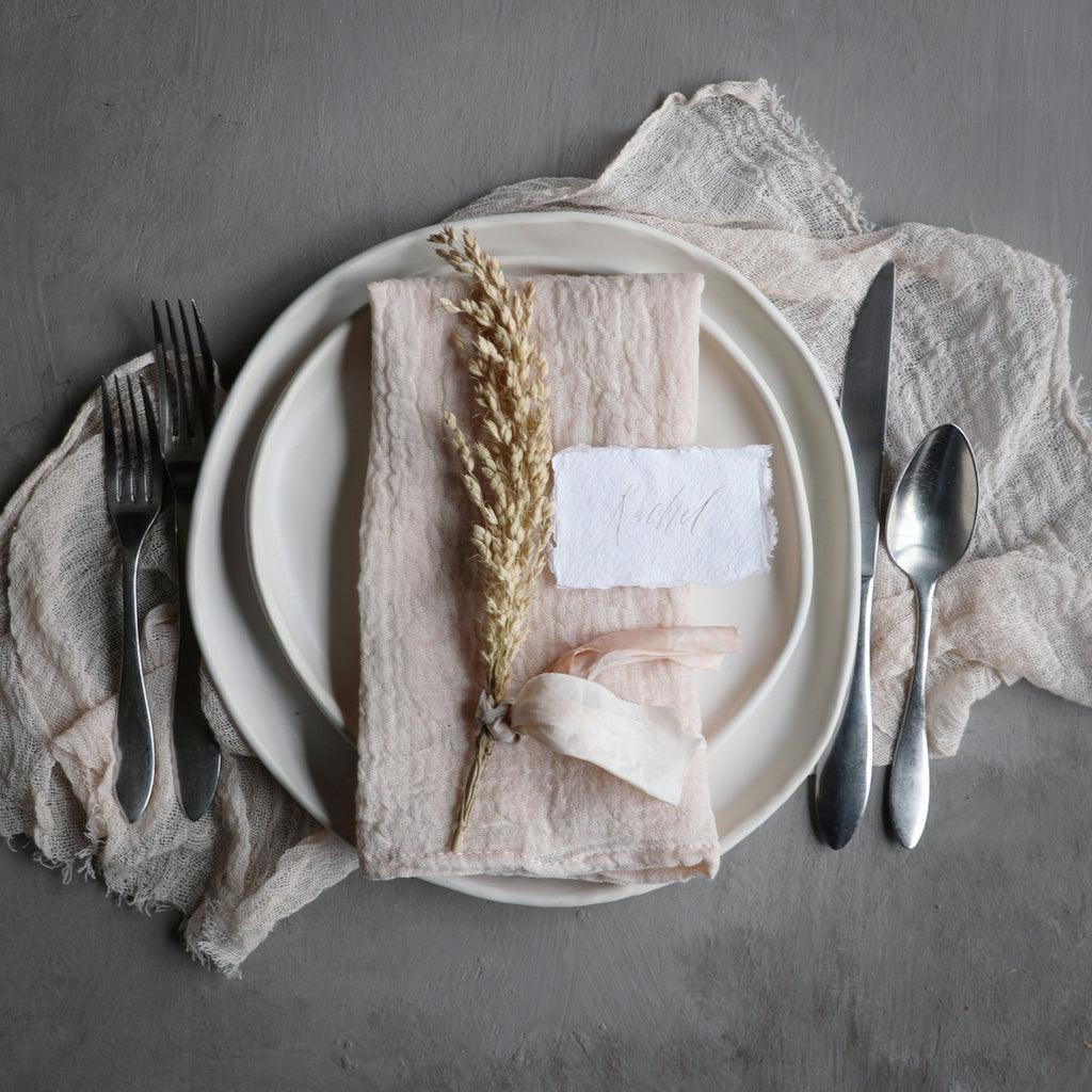 Blush Napkins / Finished Edge {Tight Weave}