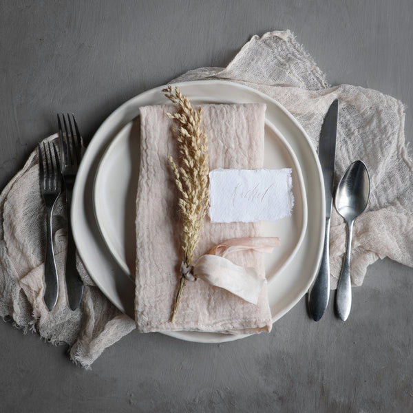 BLUSH / Plant Dyed Napkins {Finished Edges}