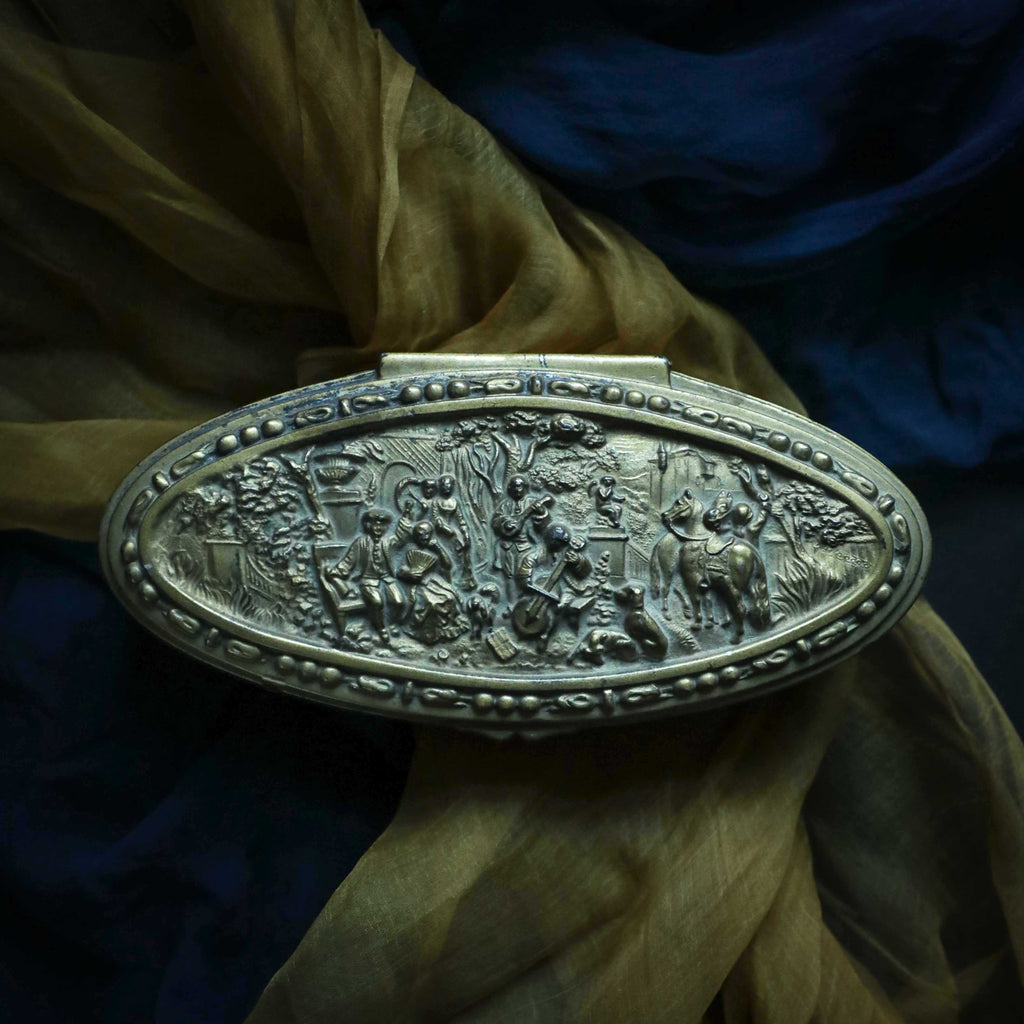 Antique Repousse Jewelry Casket