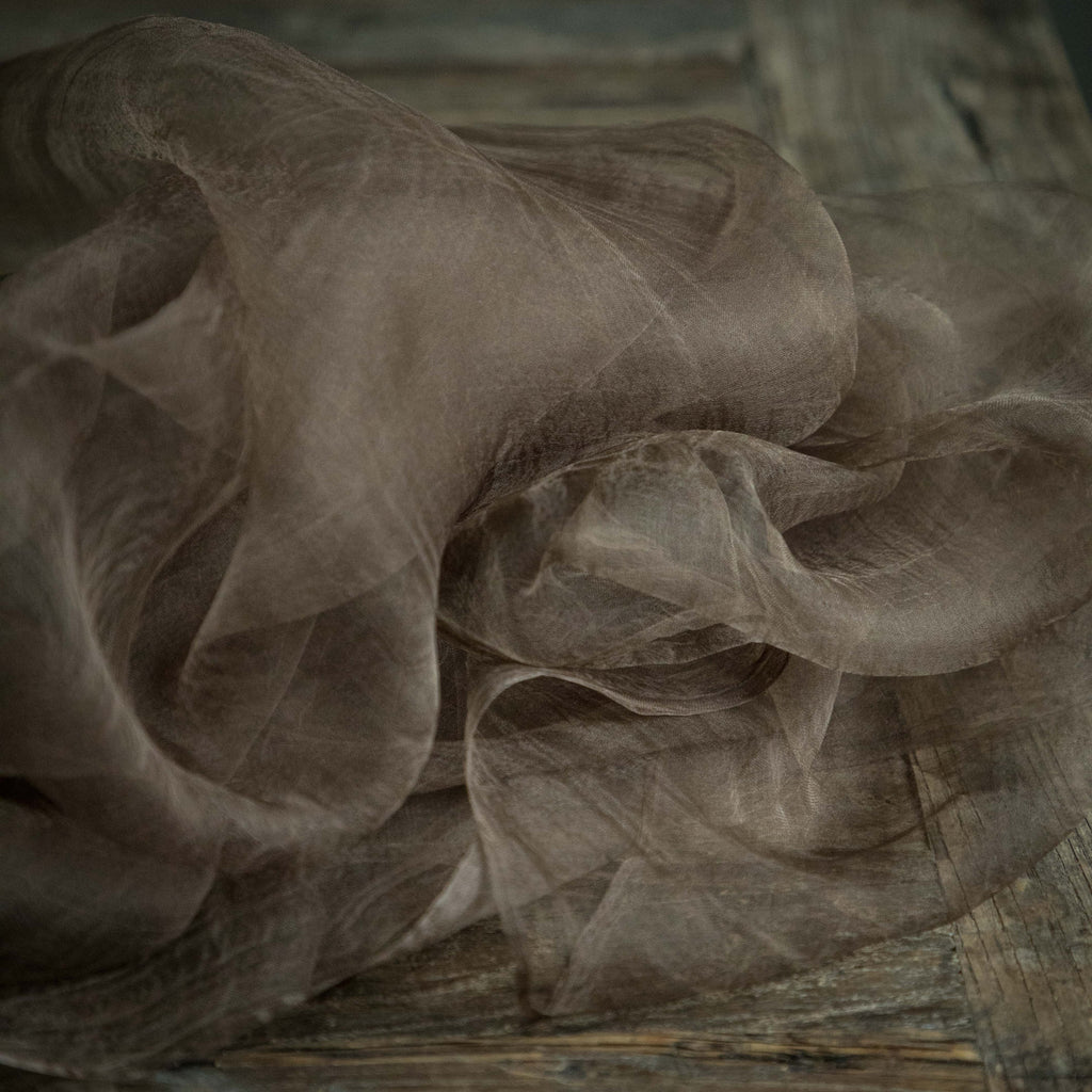 Chocolate {Gossamer Silk Fabric}