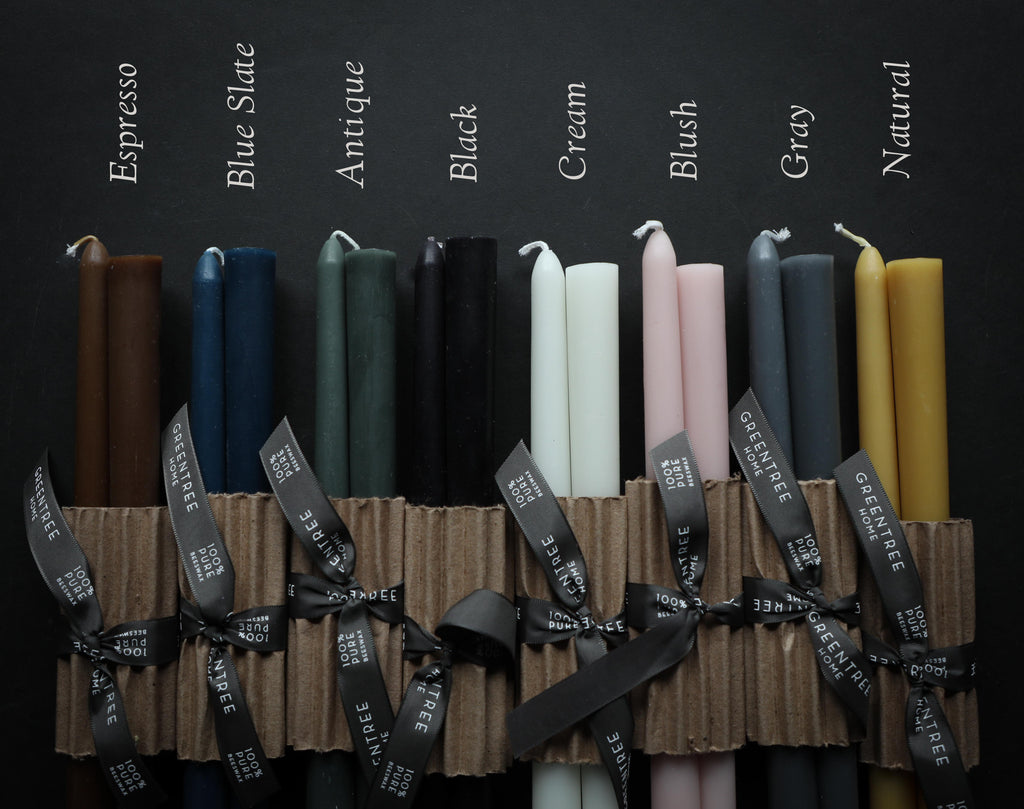 100% Beeswax Everyday Taper Candles {Greentree Home}