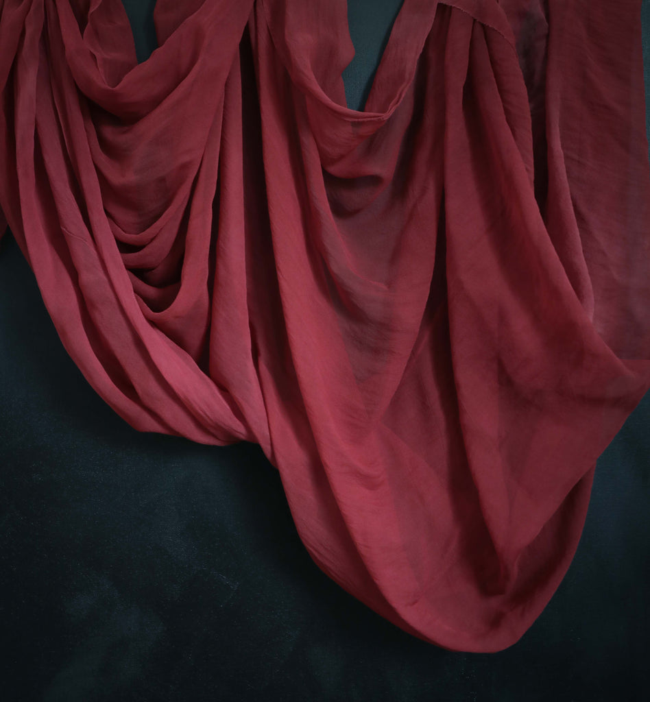 Scarlet {Sheer Silk Runner}