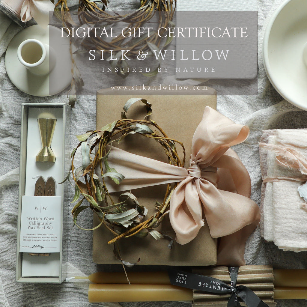 Silk & Willow / Digital Gift Certificate