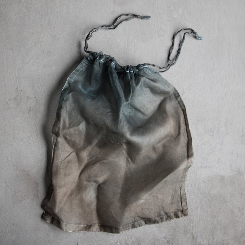 SIlk & Willow, handloom silk, silk bag, plant dyed, dip-dyed, silk