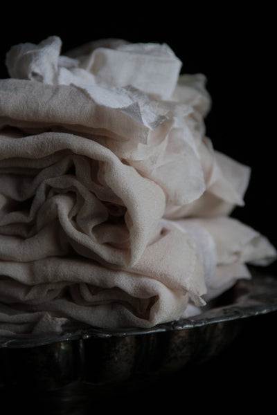 SILK SHEER FABRIC {DOVE}