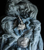 SILK SHEER FABRIC {Dusty Blue}