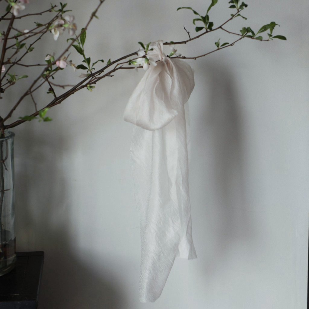 blush ribbon, hand dyed silk ribbon