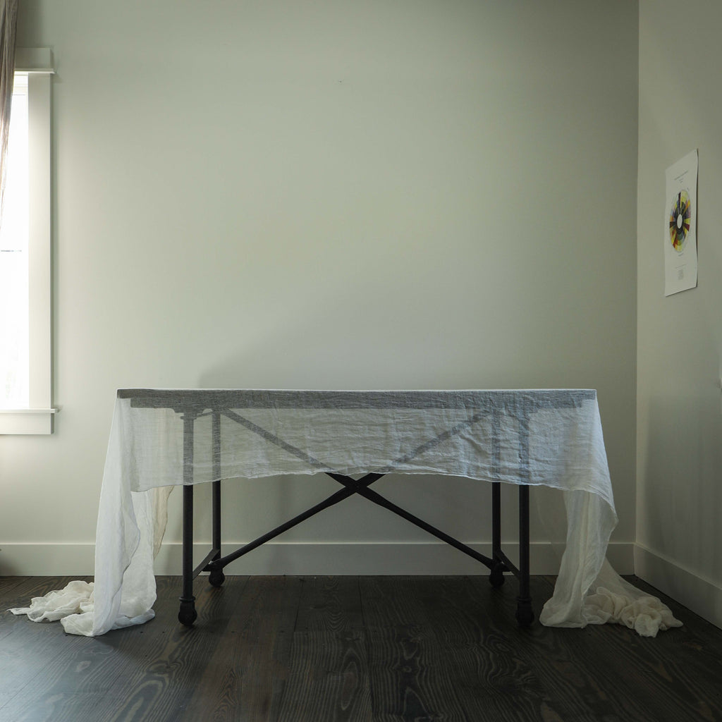 Antique White {Medium Weave Table Cover}