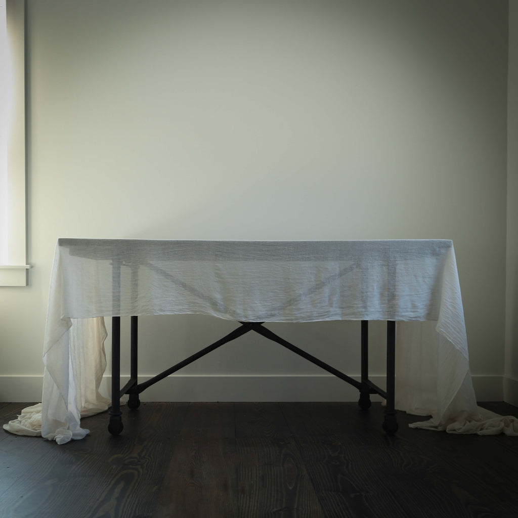 Antique White {Tight Weave Table Cover}