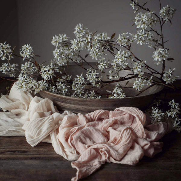 Dip Dyed Table Runner {Garden Rose}