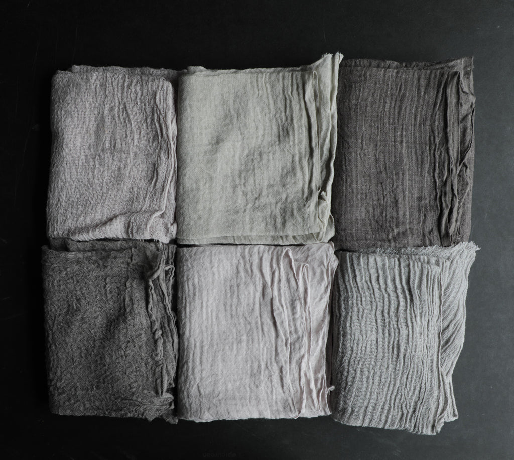 Gray Sample Bundle / Unfinished Edge {Assorted}
