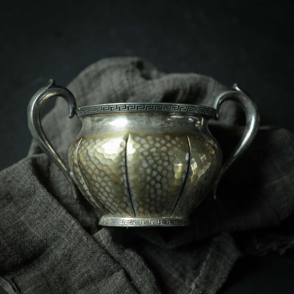 Hammered Cream & Sugar Set