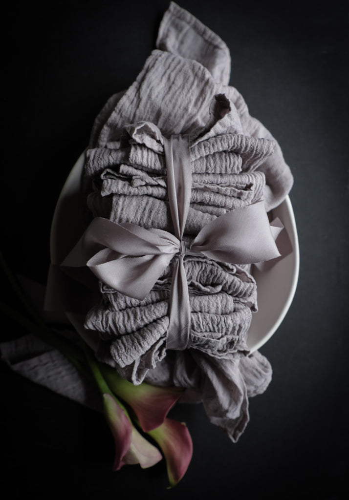 Silk & Willow bouquet silk ribbon. Plant dyed silk ribbon. luxe wedding.