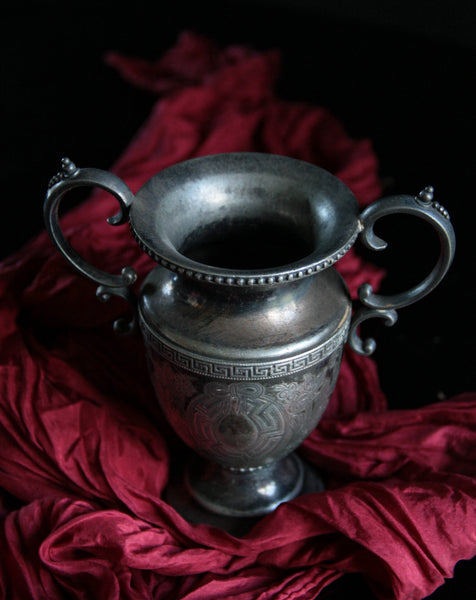 Holiday Silver Plate Loving Cup