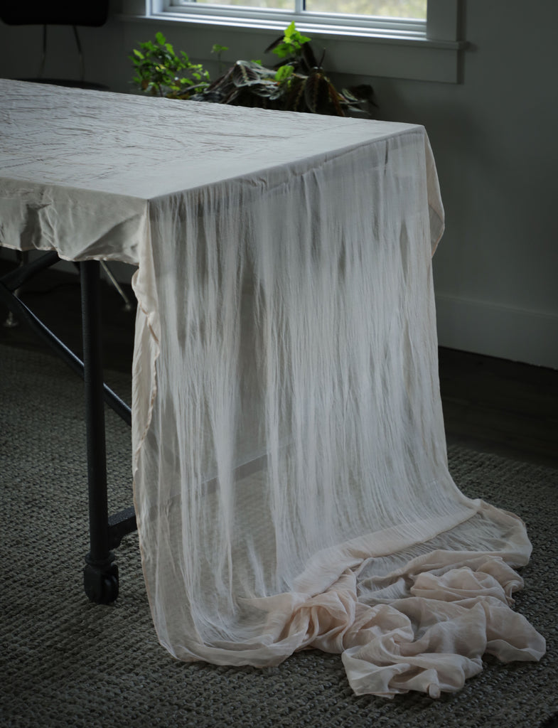 Blush {Mulberry Silk Table Runner}