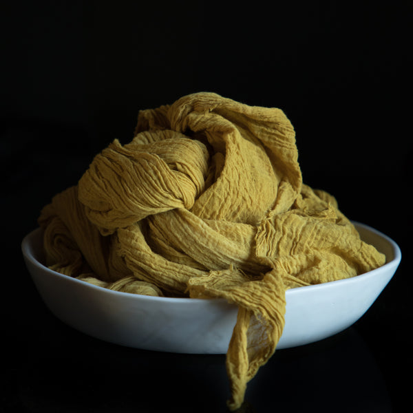 Mustard Yellow / Crinkle Cotton