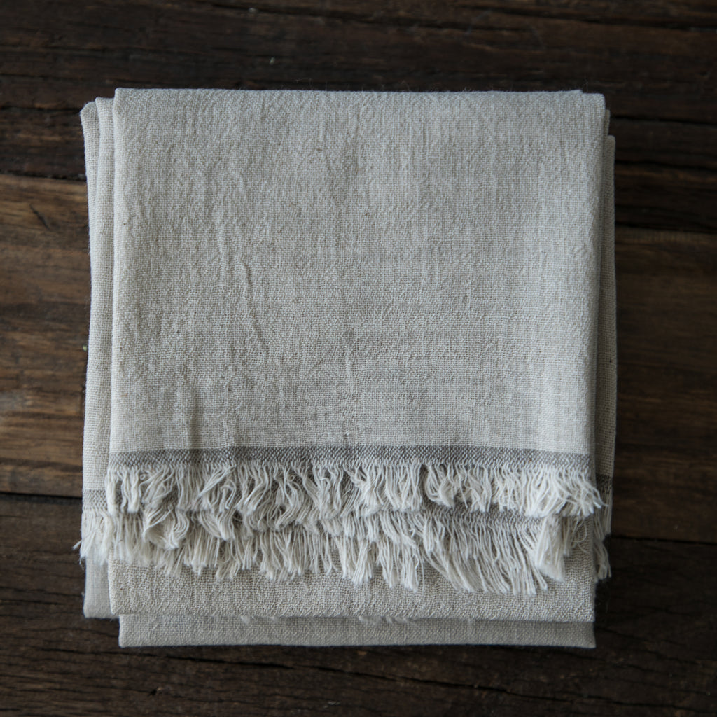 Dove Gray Napkins / Fringe Edge {Tight Weave}