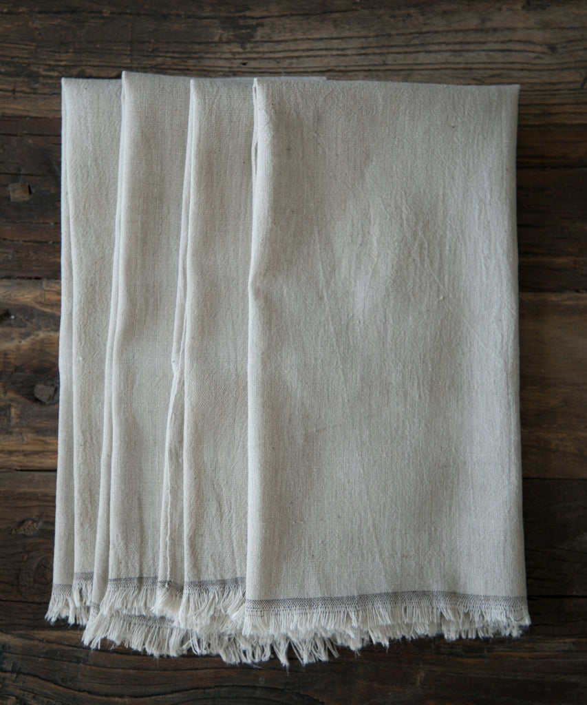 Silk & Willow plant dyed table linens. Napkins, organic cotton napkins. natural cotton napkins. Table setting.