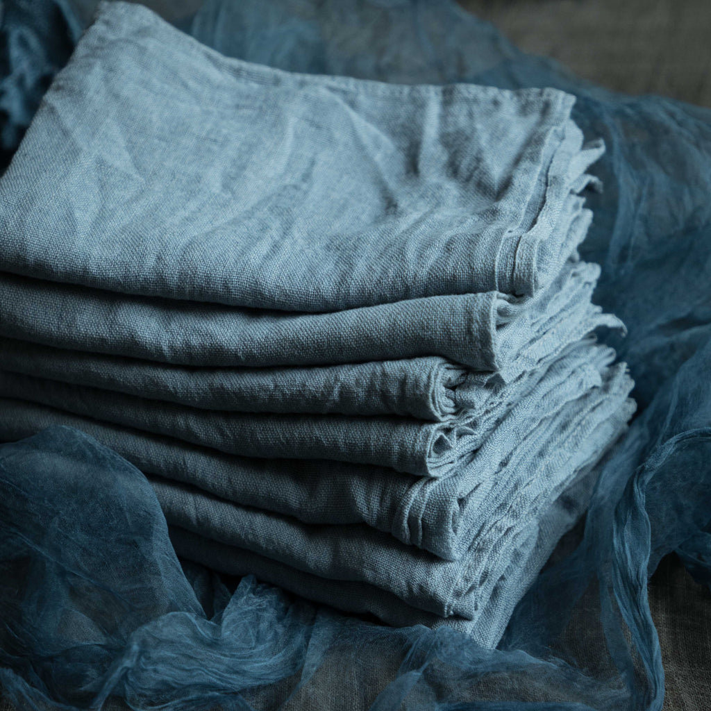 French Blue Napkins / Finished Edge {Tight Weave}