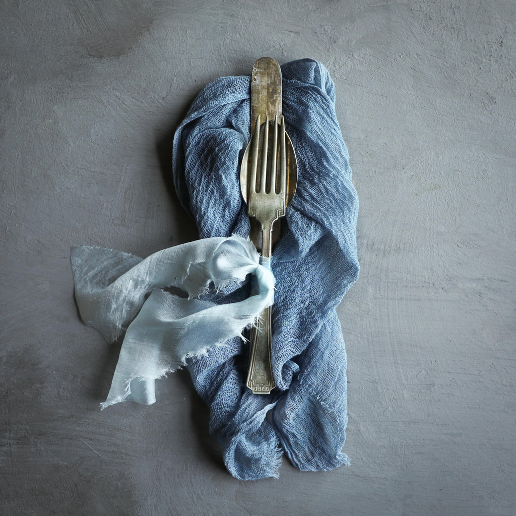 Dusty Indigo Napkins / Unfinished Edge {Medium Weave}