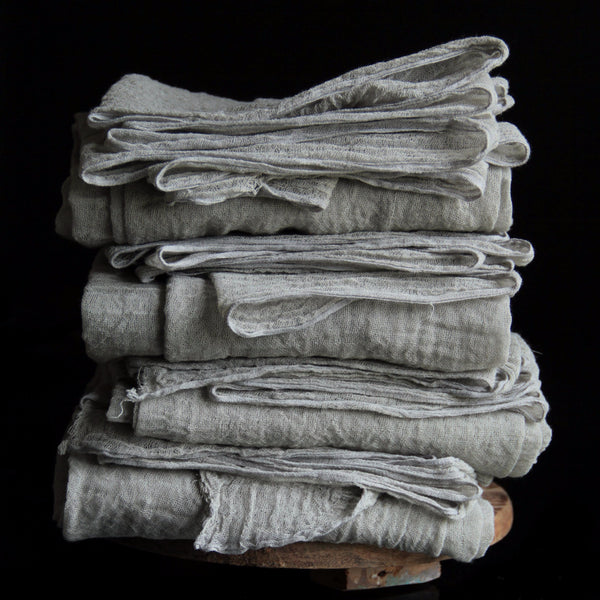 Organic Handloom Medium Weave Table Runner {Smoky Gray}