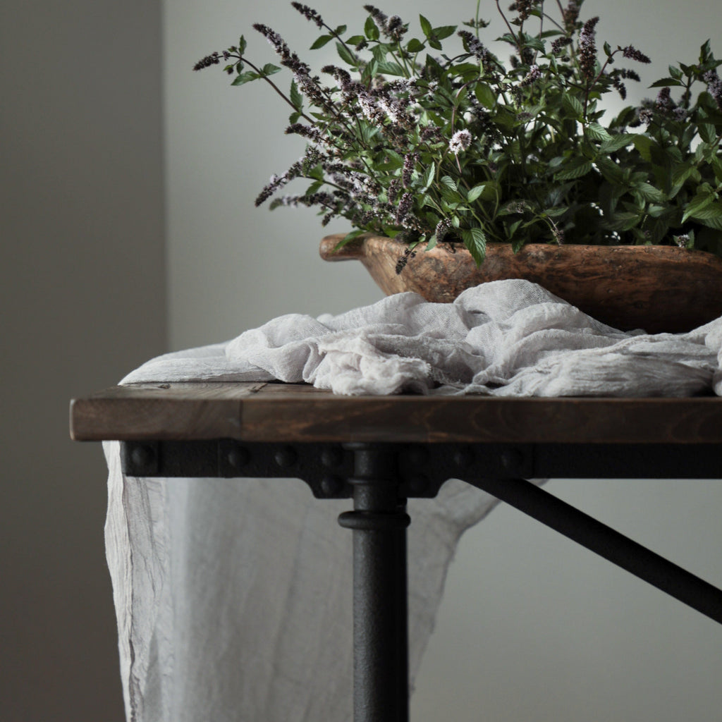 Pebble Gray Table Cover {Medium Weave}