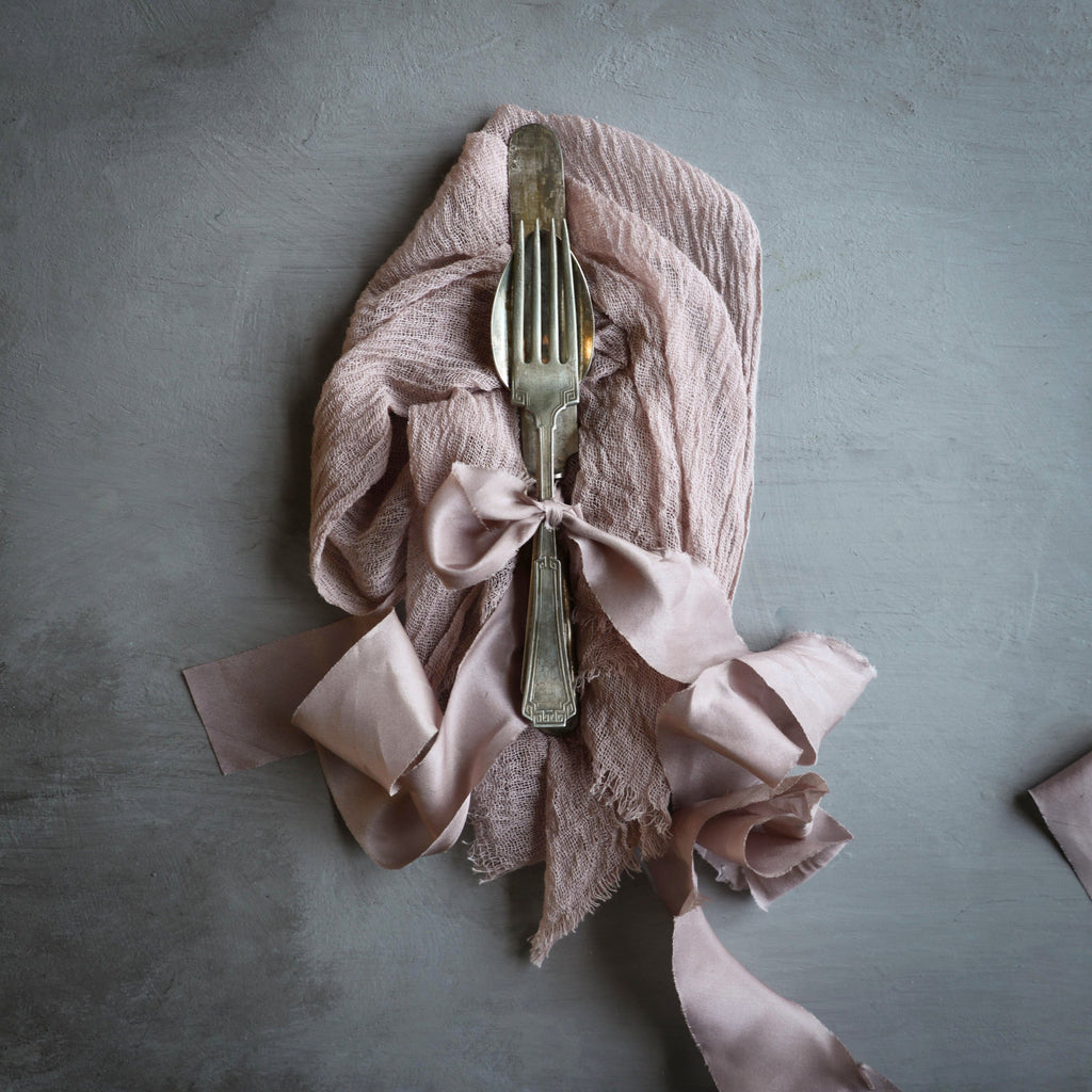 Rose Napkins / Unfinished Edge {Medium Weave}
