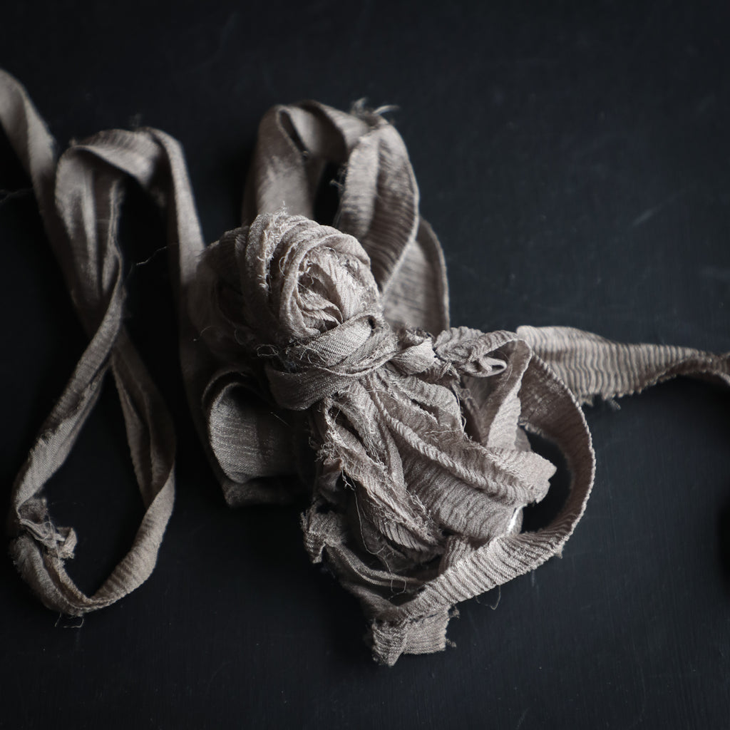 Dark Warm Gray {Recycled Ribbon}
