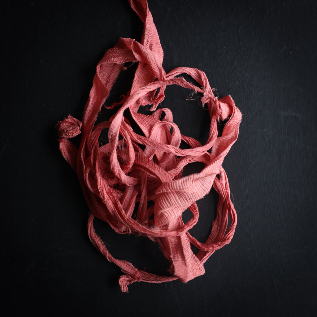 Red-Rose {Recycled Ribbon}