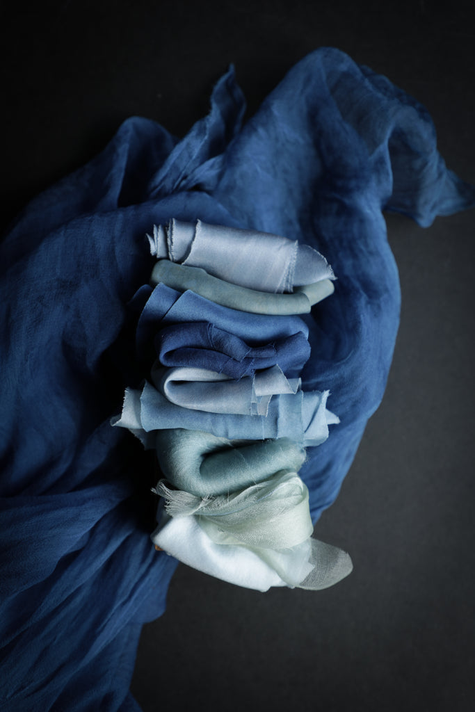 Cobalt {Sheer Silk Runner}