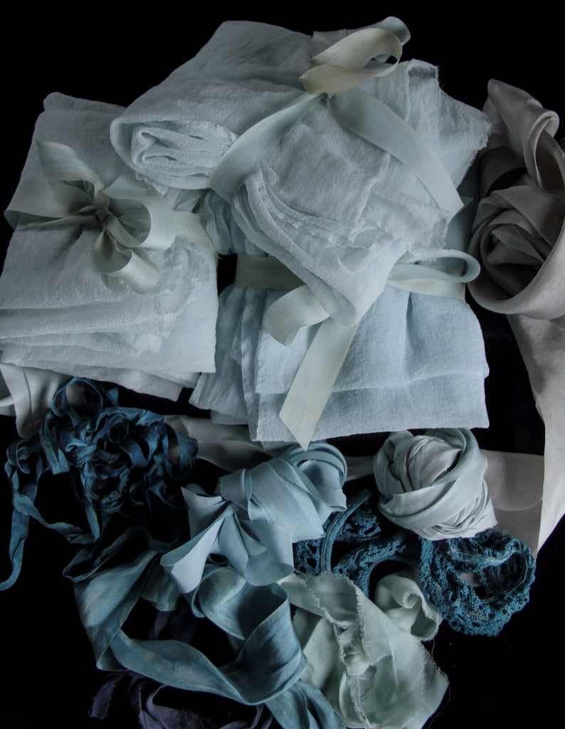 Ice Blue {Sheer Silk Runner}