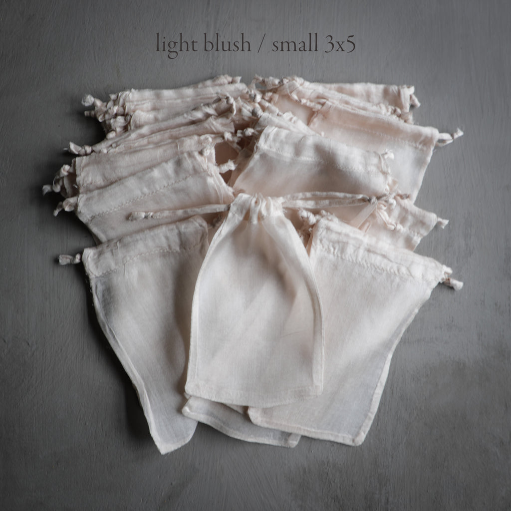 Plant Dyed 100% Silk Bags {Blush hues}
