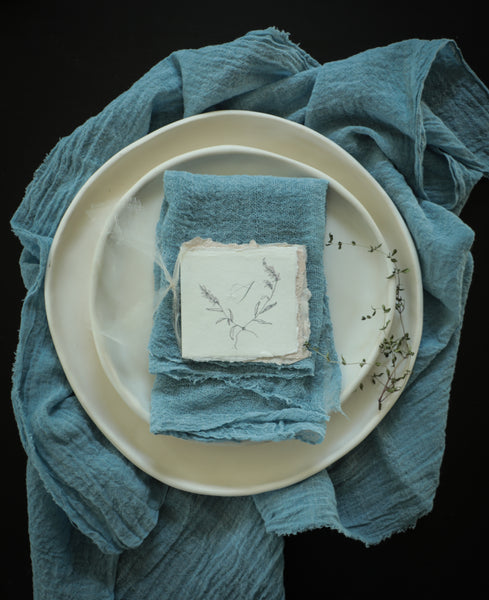 Sky Blue {tight weave napkins}