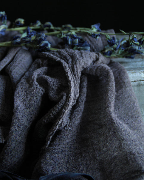 Plant Dyed Table Runner {STORM medium weave}