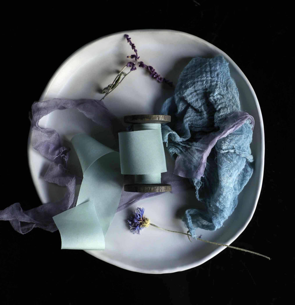 hand dyed bridal bouquet ribbon, bridal bouquet ribbon, silk ribbon, silk and willow, teal silk ribbon