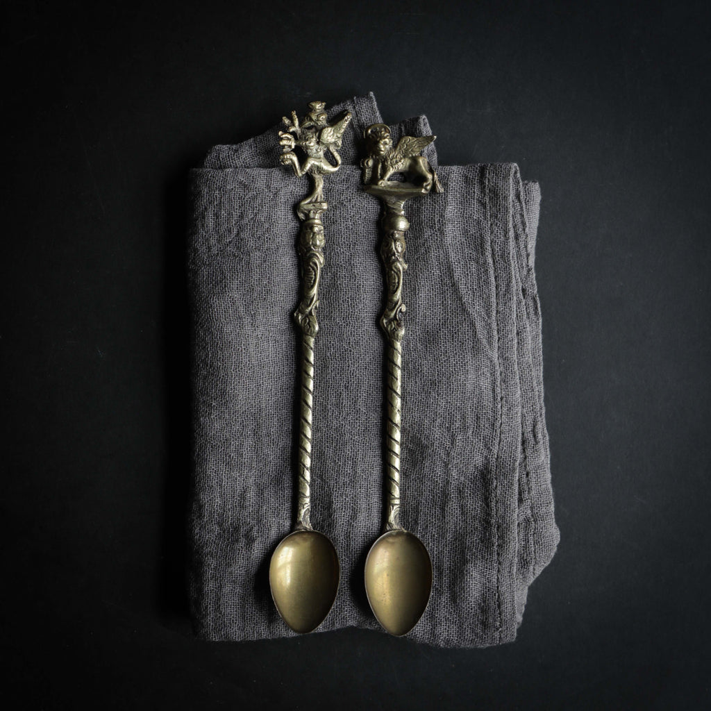 Antique Figural Tea Spoons {Set of 2}