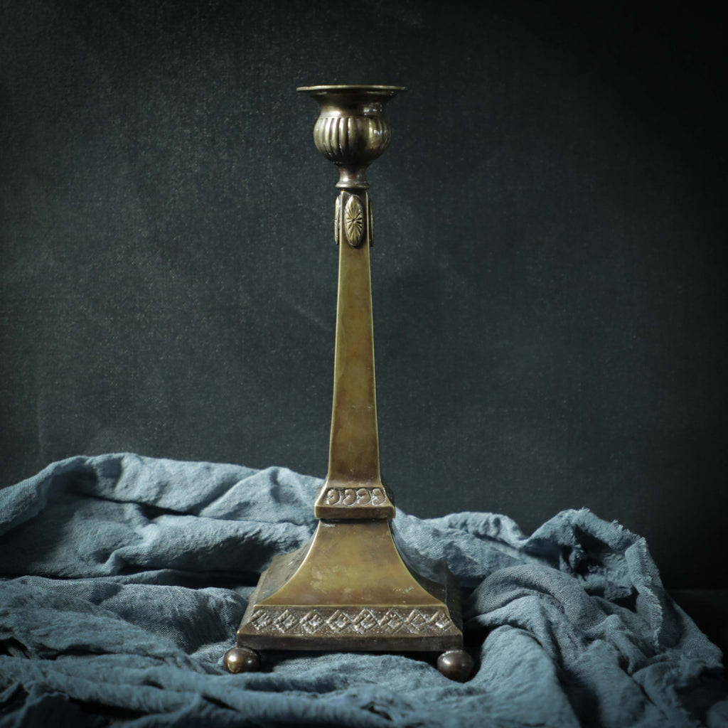Brass Footed Candle Stick