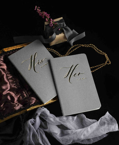 His and Her Wedding Vow Books { SENIMAN CALLIGRAPHY}