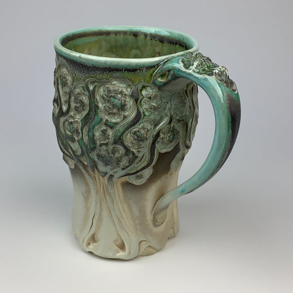 Mug - PomPom Tree Pattern Copper Green (m50csp-10)
