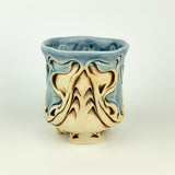 Cup - Nouveau Pattern Blue and Mahogany (c20bo-10)