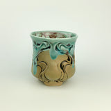 Cup - Nouveau Pattern Copper Blue (c20z10)