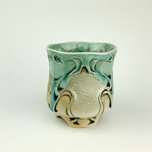 Cup - Nouveau Pattern Copper Blue (c20z11)