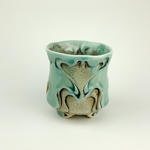 Cup - Nouveau Pattern Copper Blue (c20z12)