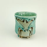 Cup - Nouveau Pattern Copper Blue (c20z13)