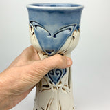 Chalice - Nouveau Pattern Blue with Mahogany (cch20bo-1)