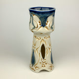 Chalice - Nouveau Pattern Floating Blue with golden rutile (cch20fbr-2)