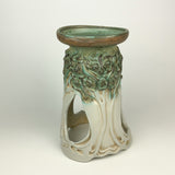 Candle Holder Large - PomPom Tree Pattern Copper Green